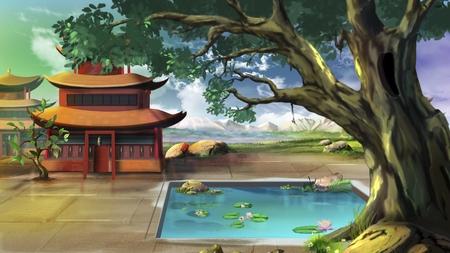 chinese courtyard