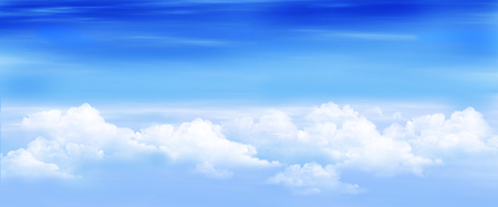 digital painting: Clouds in a Blue Sky. Digital Painting, Illustration of a white stratus clouds under a blue sky.