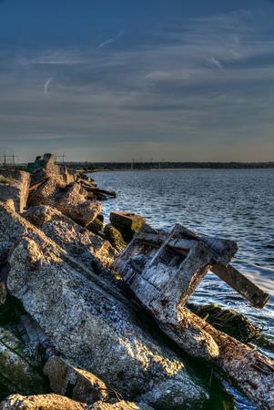 Lake Hadzhibey in the city of Odessa, Ukraine