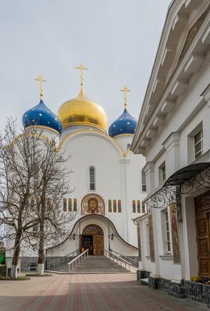 ODESSA, UKRAINE - 04.11.2018. Orthodox Holy Dormition Monastery, located in Odessa, Ukraine.