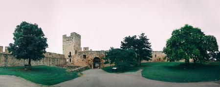 Belgrade, Serbia - 07/17/2018. Belgrade Fortress in a cloudy summer day