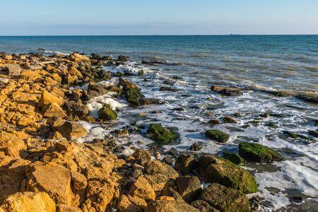 Autumn day by the sea near the village of Fontanka, Odessa region, Ukraine