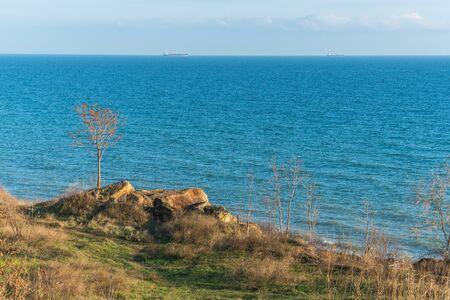 Deserted Black Sea Coast on a Fall Day Imagens