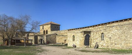 Akkerman, Ukraine - 03.23.2019. Open Air Museum inside the Akkerman Citadel , a historical and architectural monument in Bilhorod-Dnistrovskyi 報道画像
