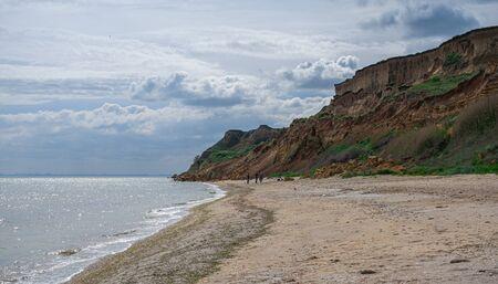 Grigoryevka, Ukraine - 05.09.2019. Shore of the Black Sea near the village of Grigoryevka in Odessa region of Odessa, Ukraine
