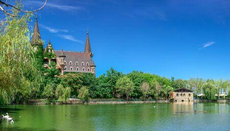 Ravadinovo, Bulgaria – 07.11.2019.  Lake in the park on the territory of the Ravadinovo castle in Bulgaria, on a sunny summer day