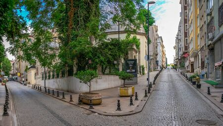 Istambul, Turkey – 07.13.2019. Streets of the historical center of Istanbul on a cloudy summer morning