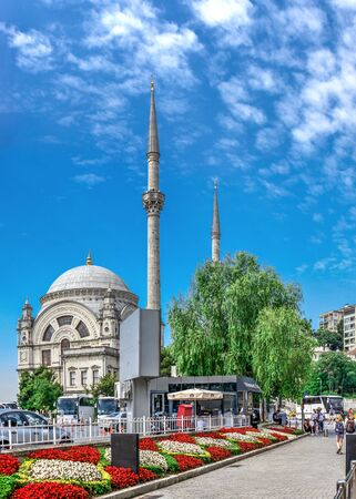 Istambul, Turkey – 07.13.2019. Dolmabahce Mosque on a sunny summer morning Editorial