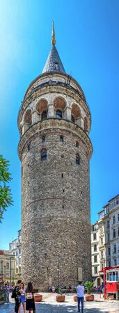 Istambul, Turkey – 07.13.2019. The Galata Tower in Istanbul on a sunny summer day