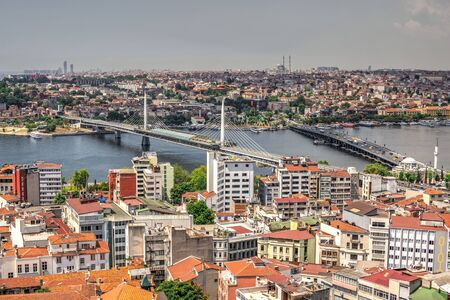 Istambul, Turkey – 07.13.2019. Top view of Ataturk Bridge in Turkey on a summer day Editorial