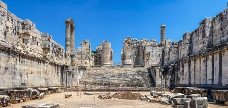 Inside the Temple of Apollo in Didyma. Panoramic view on a sunny summer day Reklamní fotografie