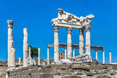 Pergamon, Turkey -07.22.2019. Ruins of the Temple of Dionysos in the Ancient Greek city Pergamon, Turkey Editorial