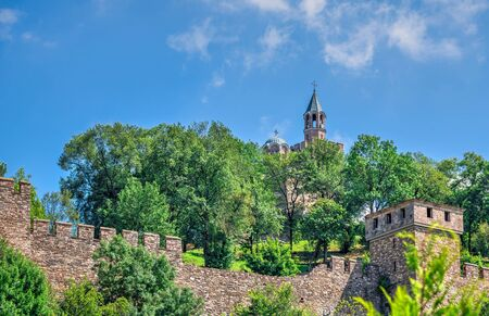 Patriarchal Cathedral of the Holy Ascension of God in the Tsarevets fortress of Veliko Tarnovo, Bulgaria, on a sunny summer day