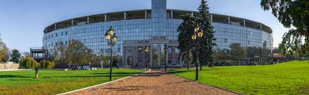 Odessa, Ukraine 11.05.2019. Chernomorets football club stadium in Odessa, Ukraine, on a sunny autumn day