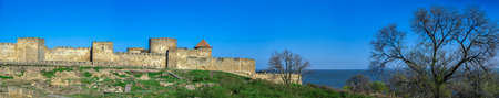 04.24.2021. Bilhorod-Dnistrovskyi or Akkerman fortress, Odessa region, Ukraine, on a sunny spring morning Redactioneel