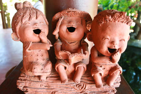 Pottery kids in Thailand photo