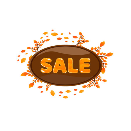 Watercolor autumn foliage vector sale banner 版權商用圖片 - 88184873