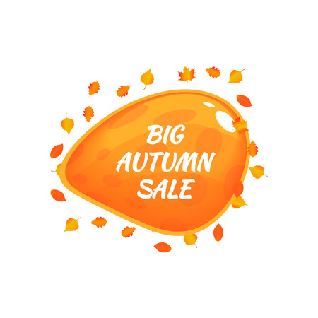 Watercolor autumn foliage vector sale banner