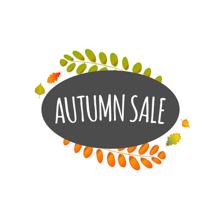 Watercolor autumn foliage vector sale banner 版權商用圖片 - 88184919