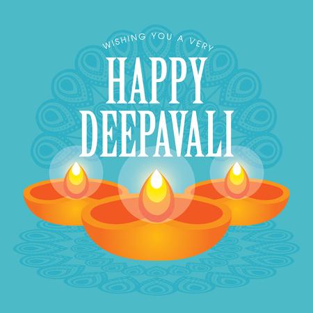 Diwali or deepavali greetings template with beautiful burning diwali or deepavali greetings template with beautiful burning diwali diya india oil lamp vector m4hsunfo