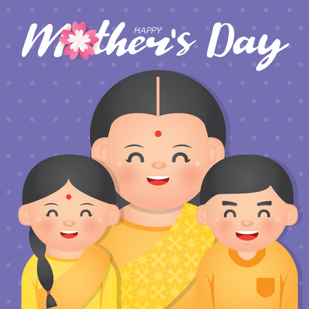 Mother's Day is a celebration honoring the mother of the family, as well as motherhood, maternal bonds, and the influence of mothers in society. Illustration