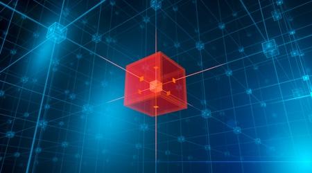 hitech: Hitech networks Stock Photo