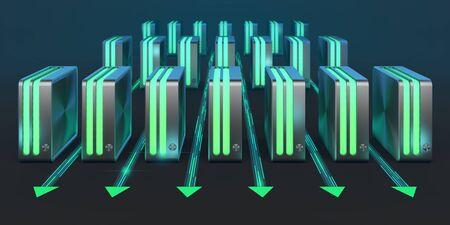 server farm: Computer networks  Cloud computing technology  Array of servers