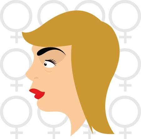 Vector illustration of a cartoon woman Ilustracja