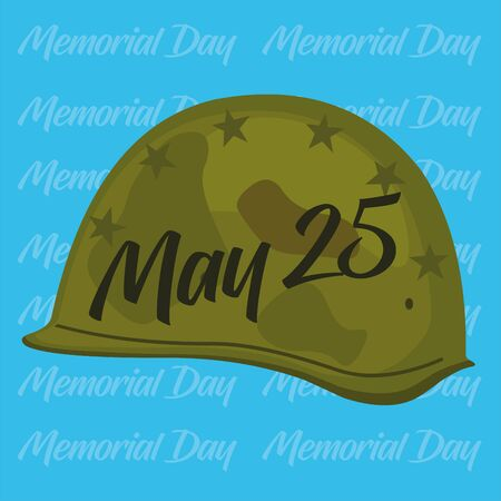 Vector illustration of united states memorial day