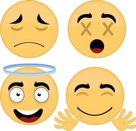 Vector illustration of emoticon collection 向量圖像