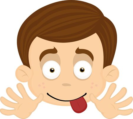 Vector illustration of expressions of a boy cartoon