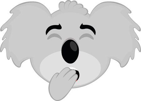 Vector illustration of the face of a koala cartoon