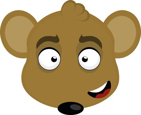 Vector illustration of the face of a mouse cartoon