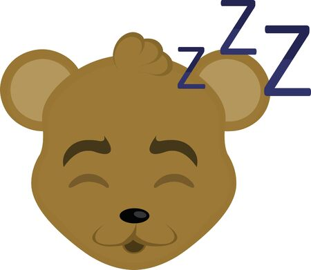 Vector illustration of the face of a cartoon mouse sleeping Vectores