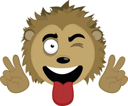 Vector illustration of the face of a cute porcupine cartoon Illustration