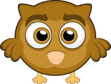 Vector illustration of a cute owl cartoon