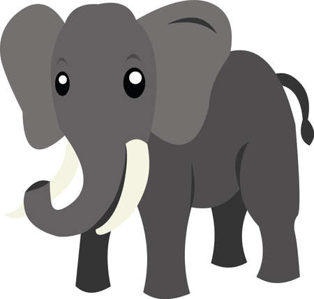 Vector illustration of an elephant cartoon