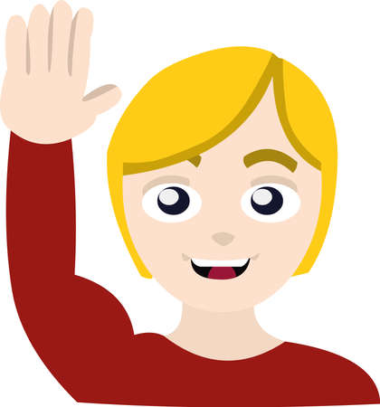 Vector illustration of a person waving