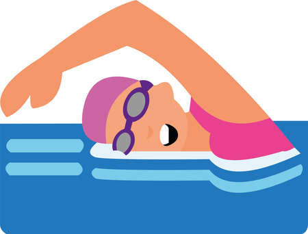 Vector illustration of icon about swimming concept