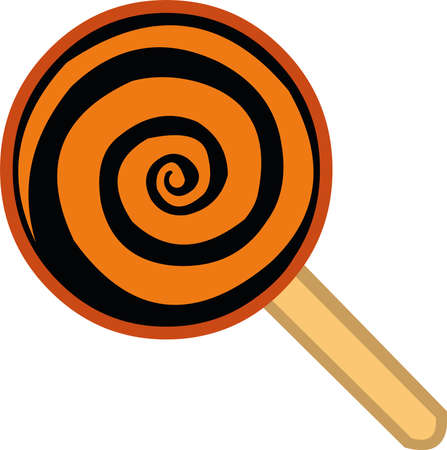 Vector illustration of a lollipop emoticon