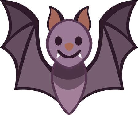 Vector illustration of a bat cartoon