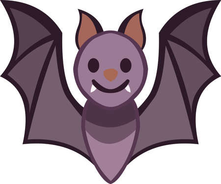 Vector illustration of a bat cartoon