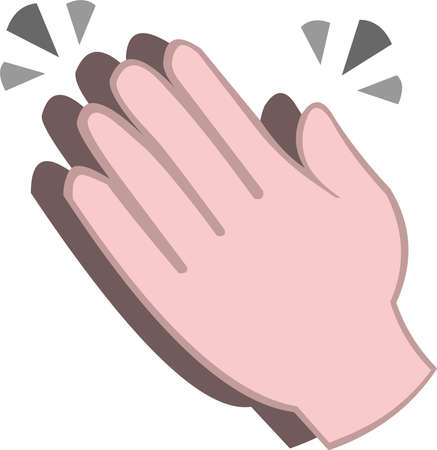 Vector illustration of clapping hands emoticon