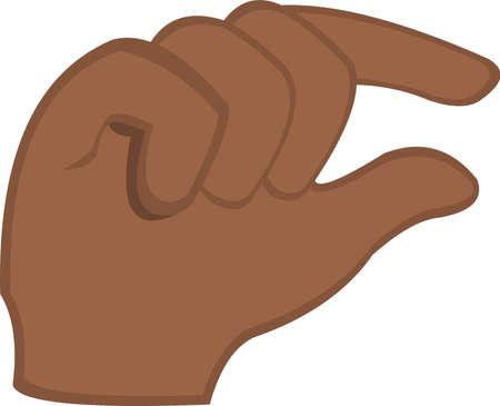 vector illustration of emoticon of a hand with a gesture of quantity Ilustração Vetorial
