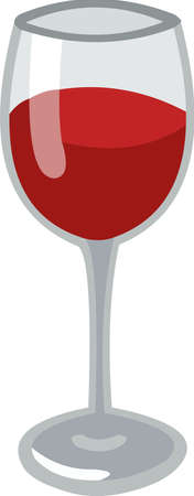 Vector emoticon illustration of a glass of wine Illusztráció