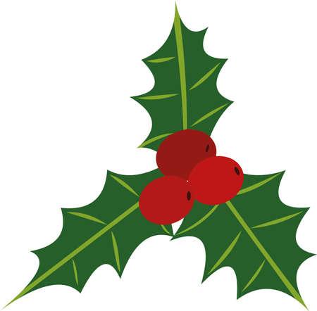 Vector illustration of a mistletoe emoticon