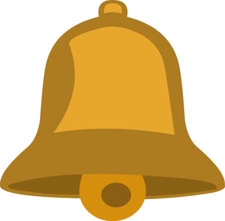 Vector emoticon illustration of a classic bell