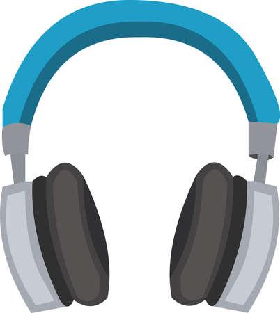 Vector illustration of a headphones