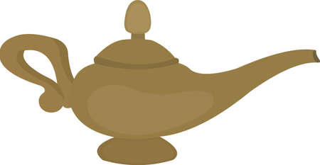 Vector illustration of a classic genie lamp