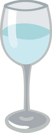 Vector illustration of a glass of water 矢量图像